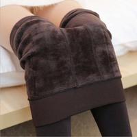 Fashion New 2014 Autumn Winter Step Pants Casual Tops Plus Size Plus Velvet Hight Waist Women's Sexy Leggings