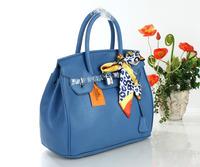 free shipping fashion style womens lady Handbag bag purse in blue 35cm