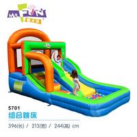 Child inflatable trampoline naughty fort household slide combination of trampoline belt ocean ball pool