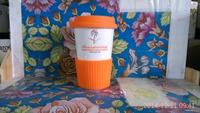 Single Layer China Bone Ceramic Cup with cup sleeve coffee cup mug 400ML