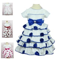 High quality,Flower girl dresses Children dresses Kids wedding party cake dress baby girls' dresses
