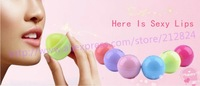 12pcs/lot Fruit flavor lip balms egg shape lip sticker moisture 6 tastes lip care smacker hot selling cute lip gloss girl likes