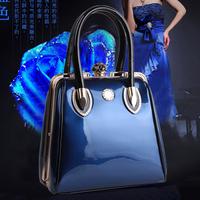 Fashion japanned leather shaping women's handbag 2014 autumn and winter fashion small fresh sweet portable messenger bag