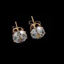 Brand Design New hot Fashion Popular Luxury Crystal Zircon Stud Earrings Elegant earrings jewelry for women