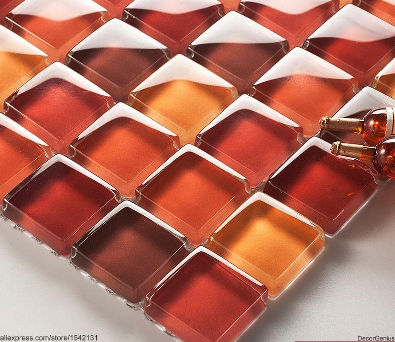 DecorGenius Red Pink Blend Mirror Decorative Mosaic Tiles Sheet Classic Antique Bathroom Tile(China (Mainland))
