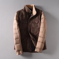 Single loose coat 2014 men's clothing the disassemblability long-sleeve wadded jacket vest wfw230
