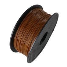 Coffee Color 3D Printer Filaments PLA 1.75mm 1kg Plastic Rubber Consumables Material