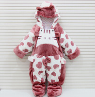 Christmas Male and female baby coveralls, autumn and winter baby winter coat, baby clothes out Foot