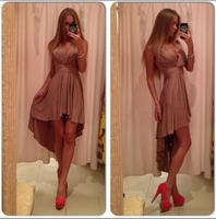 hot sale vestidos 2014 summer new women's fashion clothes, women's deep V-neck sleeveless solid color chiffon dress party dress