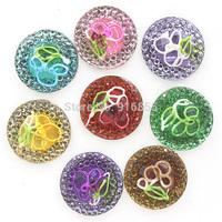 Free shipping new arrival 14mm 100pcs Flatback Resin Round Stone flower beads, flatback resin rhinestone for DIY decoration