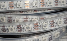 4m DCnew arrival DC5V WS2812B led strip IP68 led pixel strip,60pcs WS2812B/M with 60pixels;white PCB, in silicon tube,only 4PIN(China (Mainland))