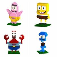 128pcs/lot DHL Free LOZ Diamond Blocks Builing Bricks Educational DIY Set Toys for Children Gift Patrick Star Squidward Tentacle