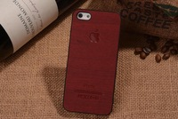 Luxury For iphone 6 4.7 / Plus 5.5 / 5g 5s 4g 4s Wood Veneer Gluing Wooden Hard Plastic Case Skin PC Cover Cell Phone 15pcs