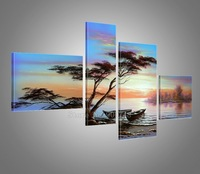 hand painted free shipping Landscape African Decor Large Wall Decor For Living Room Bathroom High Quality oil paintings on