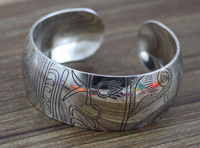2014 free shipping in Europe and the silver bracelet restoring ancient ways J1384