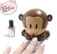 Free Shipping Hot Nail Tools Lovely Small Finger Dry Mini Monkey Blowing Nail Polish Drying Machine Nail Art Dryer