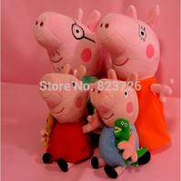 4Pcs/Set Peppa Pig Family Baby Toy Peppa Pig George Daddy Mummy Stuffed Plush Pepa Toys Birthday Gift Kids Girls Brinquedos