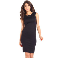 Dilamont 2014 BLACK TEE section backless bandage hip sexy dress dress 6250