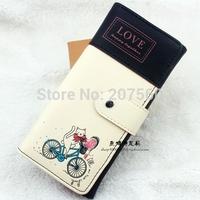 New 2015 Fashion purse Women & Men Wallets PU Leather Retro Lady clutch wallet purse Mobile phone bags Free shipping
