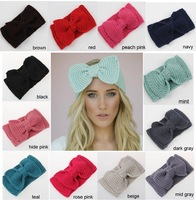 Newest handmade knitted women or kids bigger bowknot crochet headband winter Ear Warmer ,DHL/EMS free shipping