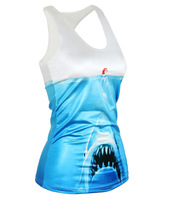 New Slim stretch vest beauty and fashion women dancing sharks word vest