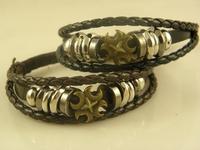 Best Seller Men's Stylish Cross Leather Wrap Bracelets Best Quality Wholesale Price Stock