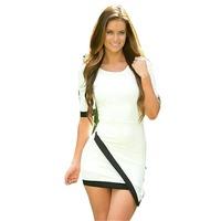 Hot sale Fashion Womens Bandage Asymmetric  Sexy Party Cocktail Mini Dress DR1839