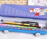 Train modeling pencil cases bag Box Wheels Iron Two layers Office School Supplies Best gift children boys girl gift pen or ruler