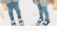 Free shipping 2014 NEW fashion Korean Autumn Children Leggings cotton Candy-colored dots girls leggings baby clothing