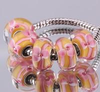 5PCS 925 sterling silver DIY thread Murano Glass Beads Charms fit Europe pandora Bracelets necklaces  /gmfapdma gzrapqya F384