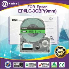 Single printer ribbon for epson LC 3GBP Green on Black 9mm*8m  free shipping