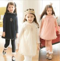Baby Girl New Spring Ruffles Cotton Long Sleeve Dresses, Princess Fashion Wear  Wholesale 6 pcs/lot,