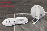 Hot cheap! Mini Round Credit Card Usb flash drive Pen drive Usb memory stick disk Custom logo USB2.0 1GB 2GB 4GB 8GB 16GB 32GB