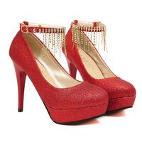 New luxury rhinestone glitter red bottom women platform pumps sexy platform high heels women wedding shoes free shiping russia