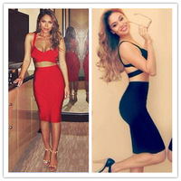 Fashion Women Sexy Backless Crop Top And Pencil Skirt Sleeveless Saias Femininas Bralet Bodycon Skirts Two Piece Outfit cx852736