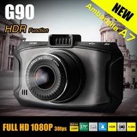 new arrival original G90 Car DVR Dashcam Ambarella A7 5 MegaPixels Full HD dash cam 1080P 2.7' LCD 170 Lens HDR G-Sensor