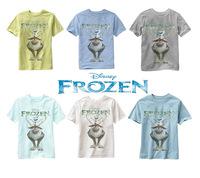 2015 children frozen clothes boys girls t shirt multicolor optional cartoon children t-shirts 100% cotton children's t-shirt