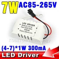 1pcs Durable High Quality 300mA 7W LED Driver 4W 5W 6W 7W * 1W Lighting Transformers Power Supply for LED Strip Lihgt Lamp