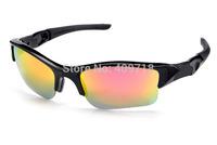 Brand Name Sports Sunglasses Designer Eyeglass Men's/Women's Fashion Flak Jacket Black Sunglass Fire Iridium Lens Red Logo Box