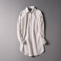 Fashion 2014 women's formal ol medium-long basic shirt white women's shirt wfc093
