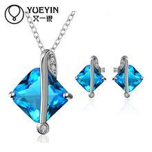 FVRS030 2015 new fine jewelry sets Extravagant Party jewlery set for lady Fashion Big Crystal set
