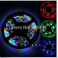 NON Waterproof 5M 3528 LED Strip Light 300 LED DC 12V Cool White/Blue/Yellow/Red/Green LED tape ribbon