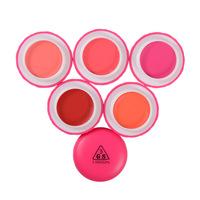 5 Colors Korea Purchasing A Genuine 3ce Upgrade 3GS Dual-Use Cream Cheek Blush Lip Lipstick Rouge Cream Makeup Maquiagem Blusher