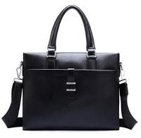 2015 New Men messenger bags Mens casual briefcase business Handbag Bag Men PU Leather Shoulder bag Tote Designer Computer Laptop