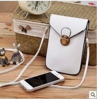 2015 Rushed Freeshipping Zipper The Neck of Feature Phone Package Zero Wallet Diagonal Korea Cute New Female Mini Handbag Bag