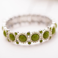 High quantify new style green the role of gem charming exquisite bright drill luxury elastic female bracelet fashion accessories