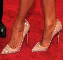 Dimaond moda cristal rhinestone novia escarcha alto inferiores rojos de baile del partido de tacón bombas 2014 de oro sexy zapatos de tacón de la boda(China (Mainland))