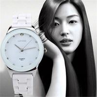 LONGBO New Korean Luxury Jewelry Business Casual Men Brand Watches,Fashion Leisure Waterproof Women Dress Ceramics Quartz Watch