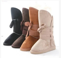 2014 New Winter Snow Boot Women Man-made Fur Buckle Motorcycle Ankle Boots Shoes size 35-40