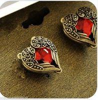 Details about 1 Pair New Fashion Women Lady Elegant Crystal Rhinestone Heart Ear Stud Earrings